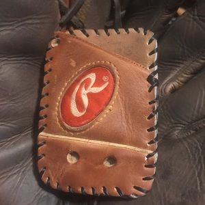 Rawlings Handmade Baseball Glove Leather Wallet